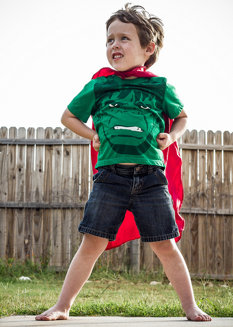 Kid Superman - physical activity is good for brain health